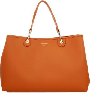 Pomarańczowa torebka Emporio Armani na ramię