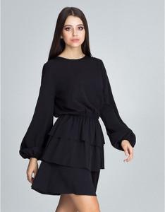 Czarna sukienka Figl
