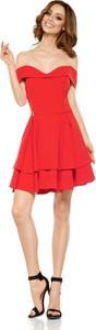Czerwona sukienka Lemoniade mini z krótkim rękawem