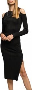 Sukienka Guess midi z długim rękawem