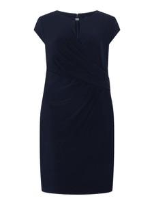 Granatowa sukienka Ralph Lauren mini z okrągłym dekoltem z krótkim rękawem