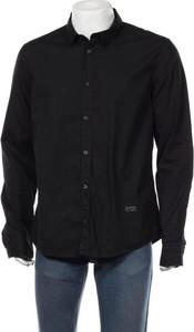 Czarna koszula Guess z klasycznym kołnierzykiem w stylu casual