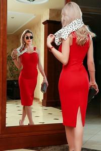 Czerwona sukienka IVET bez rękawów