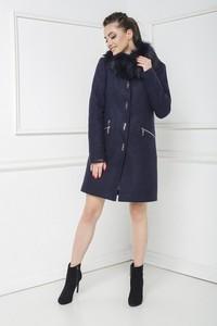 Granatowy płaszcz Marcelini