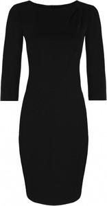 Czarna sukienka Nife z długim rękawem mini w stylu casual