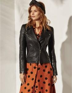 Czarna kurtka Fan Leather krótka