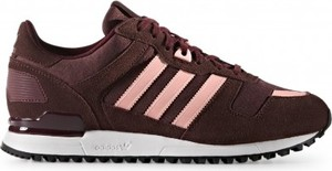 Czerwone buty sportowe Adidas w sportowym stylu sznurowane