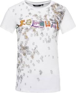 T-shirt Desigual z okrągłym dekoltem w stylu casual