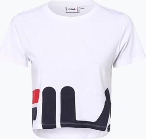 03dc9302e Czarny t-shirt Fila z okrągłym dekoltem z krótkim rękawem