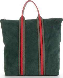 Zielona torebka VITTORIA GOTTI ze skóry duża w wakacyjnym stylu