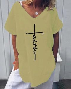 Bluzka Kendallme z krótkim rękawem z dekoltem w kształcie litery v