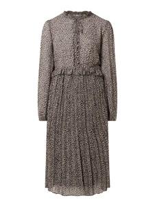 Sukienka Jake*s Collection z dekoltem w kształcie litery v z długim rękawem