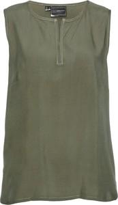 Zielona bluzka bonprix bpc selection bez rękawów