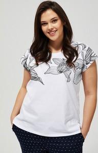 T-shirt Moodo z okrągłym dekoltem w stylu casual