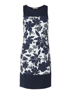 Granatowa sukienka Betty Barclay midi z okrągłym dekoltem