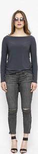 Bluzka Freeshion z długim rękawem z dzianiny w stylu casual