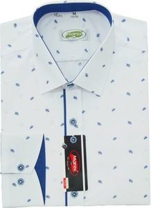 Niebieska koszula Marex Łódź z długim rękawem z bawełny