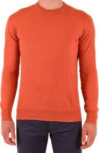 Pomarańczowy sweter Drumohr z okrągłym dekoltem w stylu casual