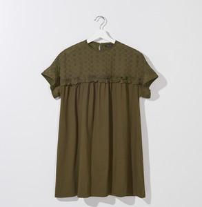 Zielony t-shirt Mohito z bawełny z krótkim rękawem z okrągłym dekoltem