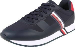 Niebieskie buty sportowe Tommy Hilfiger ze skóry