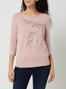 Różowa bluzka Christian Berg Women z okrągłym dekoltem