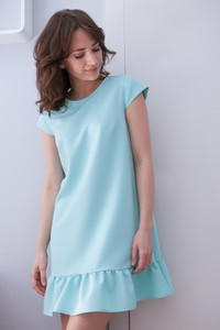 Sukienka butik-choice.pl w stylu casual z okrągłym dekoltem mini