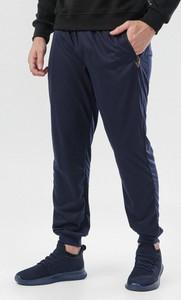 Granatowe spodnie born2be w stylu casual z dresówki