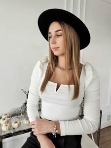 Bluzka Perfe z długim rękawem z bawełny