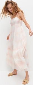 Sukienka Reserved z tkaniny w stylu casual maxi