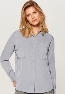 0aef9e827c Niebieska koszula Mohito z długim rękawem