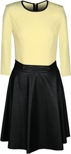 Sukienka Fokus w stylu glamour mini z długim rękawem