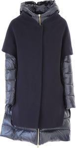 Granatowa kurtka Herno długa z bawełny w stylu casual