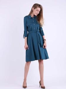 Granatowa sukienka Nommo z bawełny w stylu casual