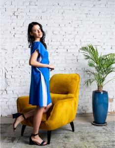 Niebieska sukienka ELEONORA PORTERA