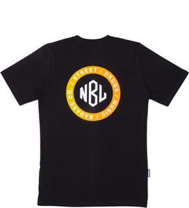 Czarny t-shirt New Bad Line z bawełny w młodzieżowym stylu z krótkim rękawem