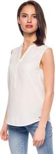Bluzka Hilfiger Denim w stylu klasycznym z dekoltem w kształcie litery v bez rękawów