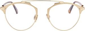 Żółte okulary damskie Dior