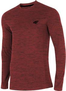 Czerwona koszulka z długim rękawem 4F