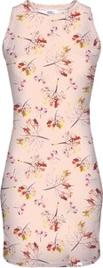 Różowa sukienka sukienki.pl bez rękawów dopasowana