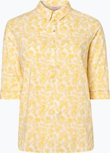 Żółta bluzka Triangle z kołnierzykiem