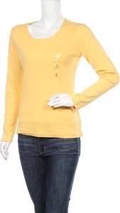 Żółta bluzka Karen Scott z długim rękawem w stylu casual z okrągłym dekoltem