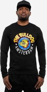 Czarna koszulka z długim rękawem The Bulldog Amsterdam z bawełny
