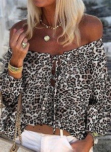 Brązowa bluzka Sandbella hiszpanka