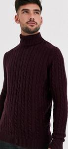 Czerwony sweter Asos z wełny