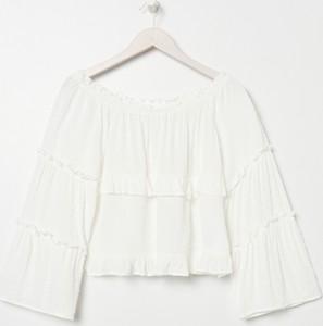 Bluzka Sinsay z długim rękawem w stylu casual z okrągłym dekoltem