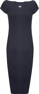 Granatowa sukienka Byinsomnia z odkrytymi ramionami