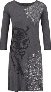 Sukienka Desigual z długim rękawem midi