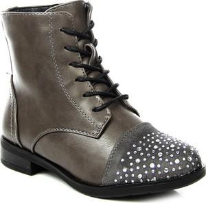 Szare buty dziecięce zimowe jezzi dla dziewczynek