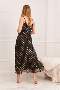 Czarna sukienka Fasardi na ramiączkach