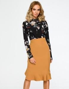 Brązowa spódnica MOE midi